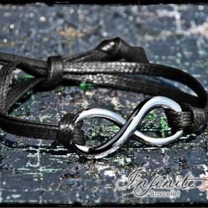 Linea gioielli Infinite Love - Cinturino cerato piatto nero, testa di moro, avorio